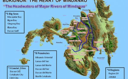 Major rivers of Mindanao