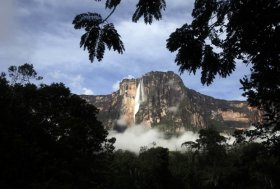 A general view of Angel Falls also known as